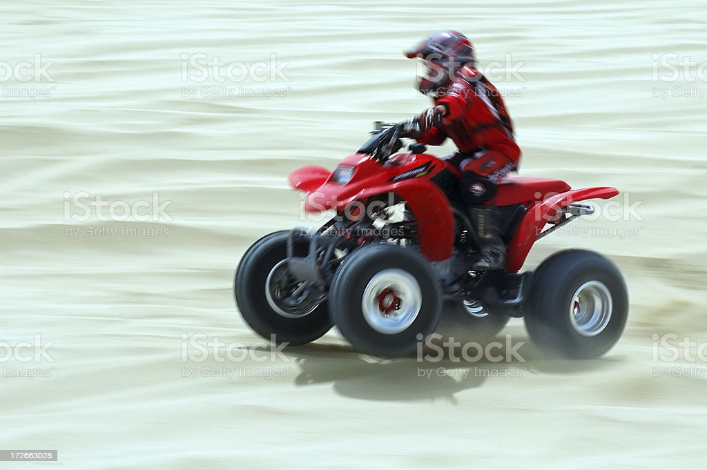 People : Quad Racer royalty-free stock photo