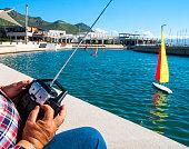 Model remote control sailing yachts