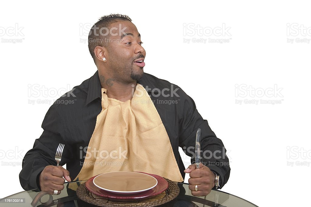 People - ready to eat stock photo