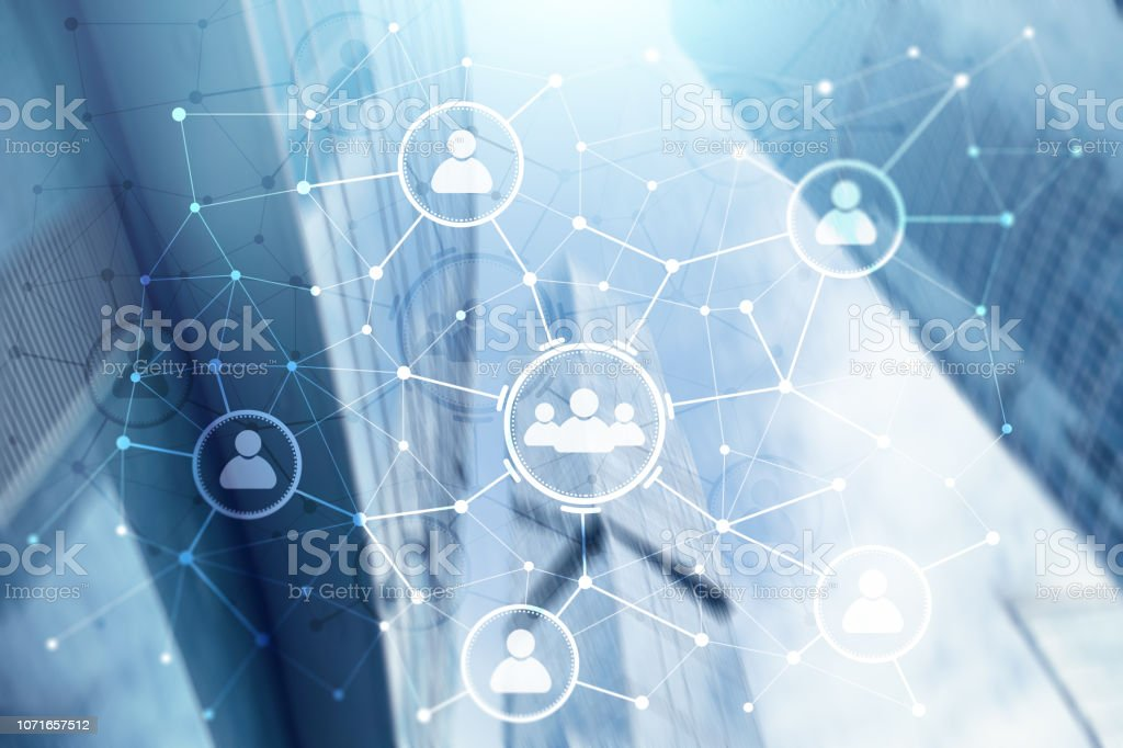 People relation and organization structure. Social media. Business...