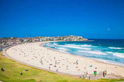 People Relaxing On The Bondi Beach In Sydney Australia Stock Photo - Download Image Now