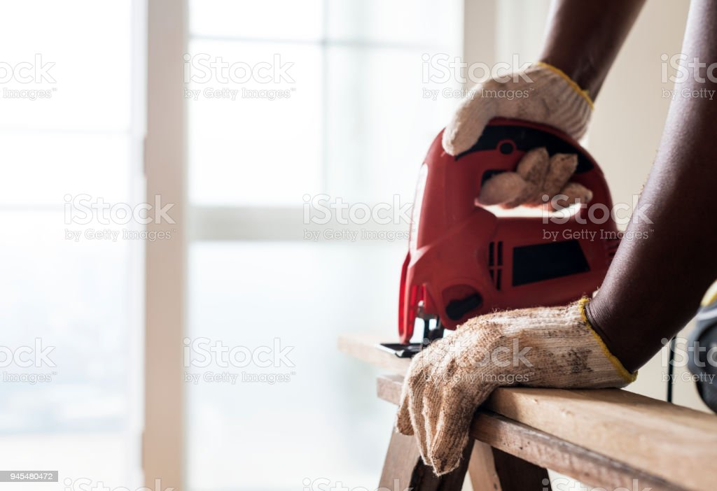 People renovating the house concept stock photo