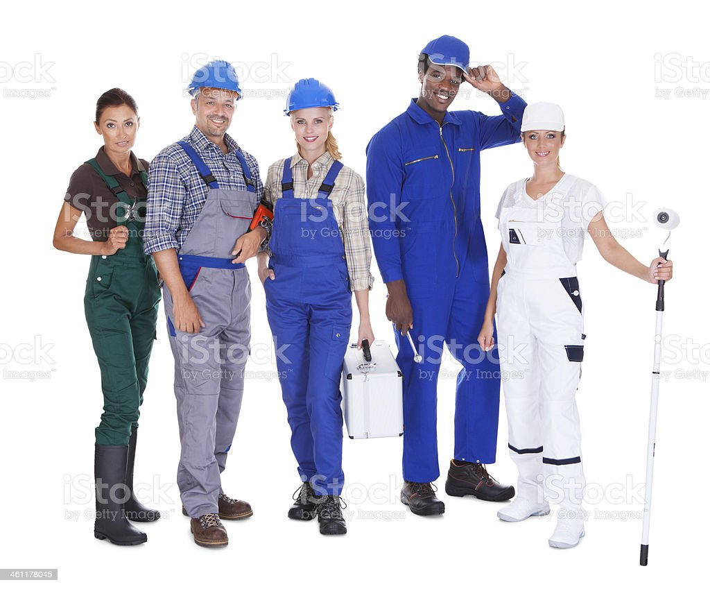 People Representing Diverse Professions stock photo