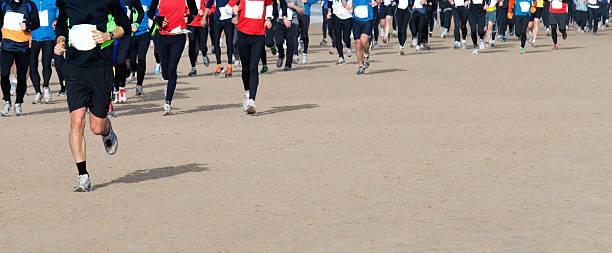 Menschen Laufen den marathon – Foto