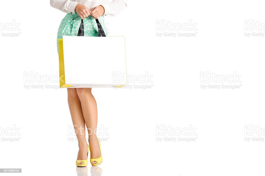 people, sale, black friday concept - woman with shopping bags photo libre de droits