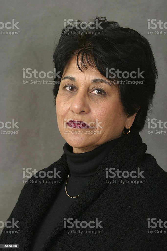 People - Senior East Indian Woman #01 royalty-free stock photo