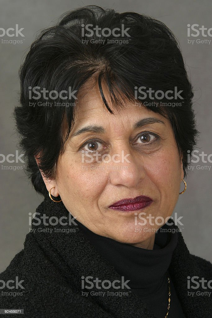 People - Senior East Indian Woman #03 royalty-free stock photo