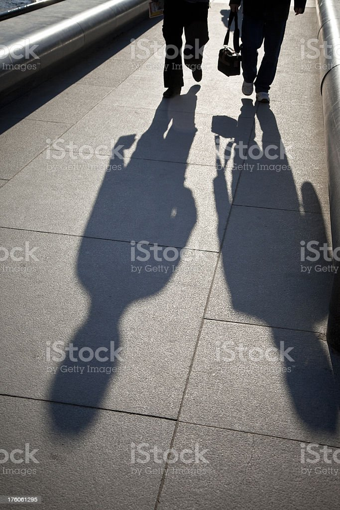 people shadows royalty-free stock photo