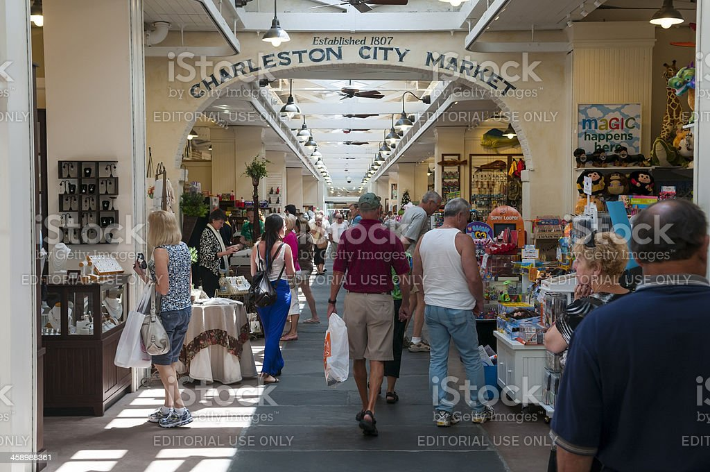 Charleston City Market royalty-free stock photo