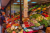 istock People shopping at marketplace of our lady of Africa at Santa Cruz, Tenerife, Canary islands, Spain. 1318190367