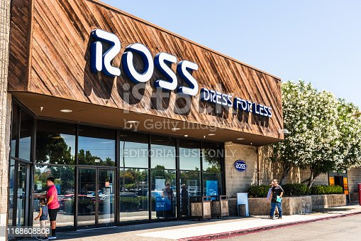 August 12, 2019 Sunnyvale / CA / USA - People shopping at a Ross Dress for Less store located in San Francisco bay area