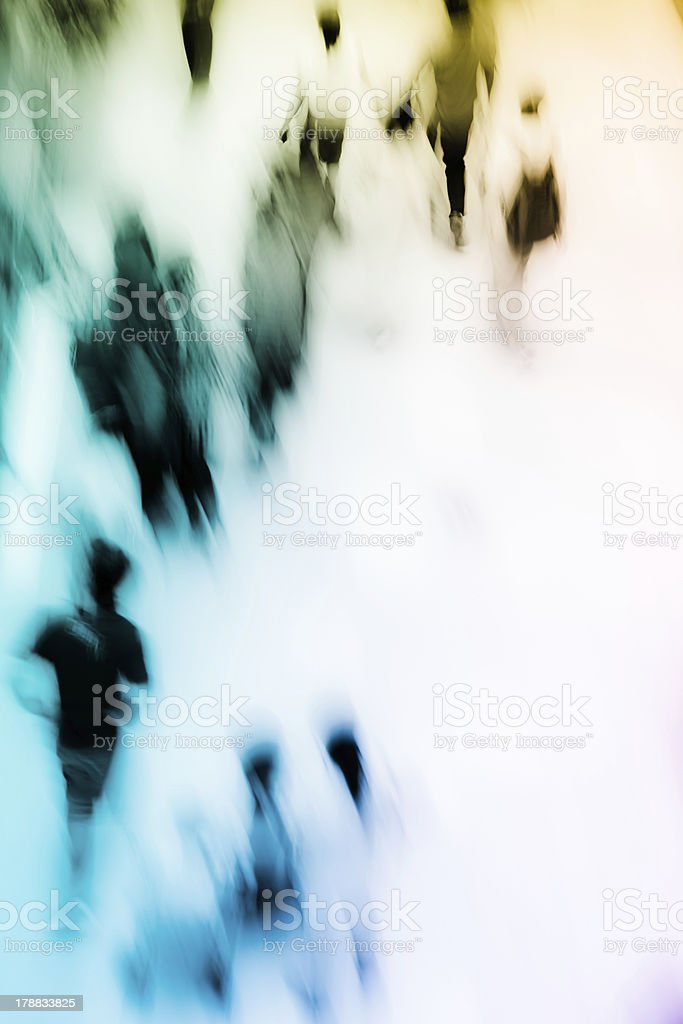 people shopping in central marketplace stock photo