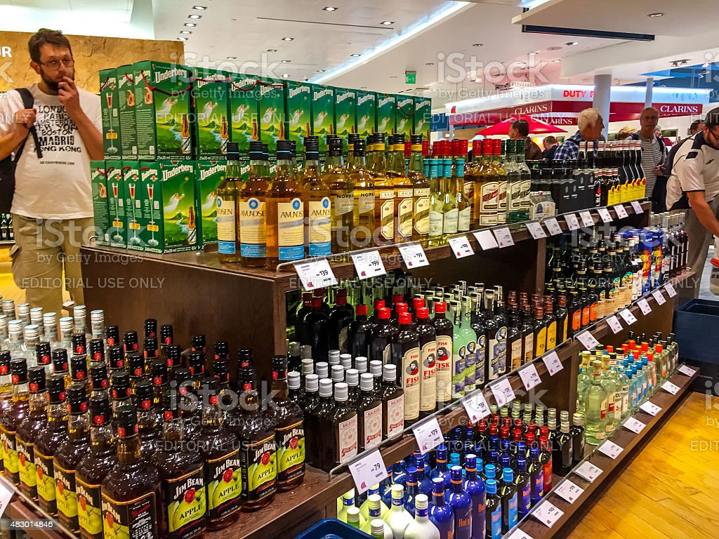 People Shopping In Duty Free Shops At Oslo Airport Norway