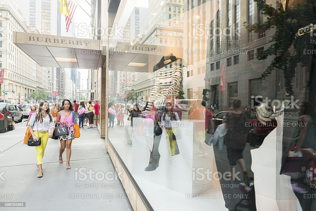 People Shopping in New York City stock photo