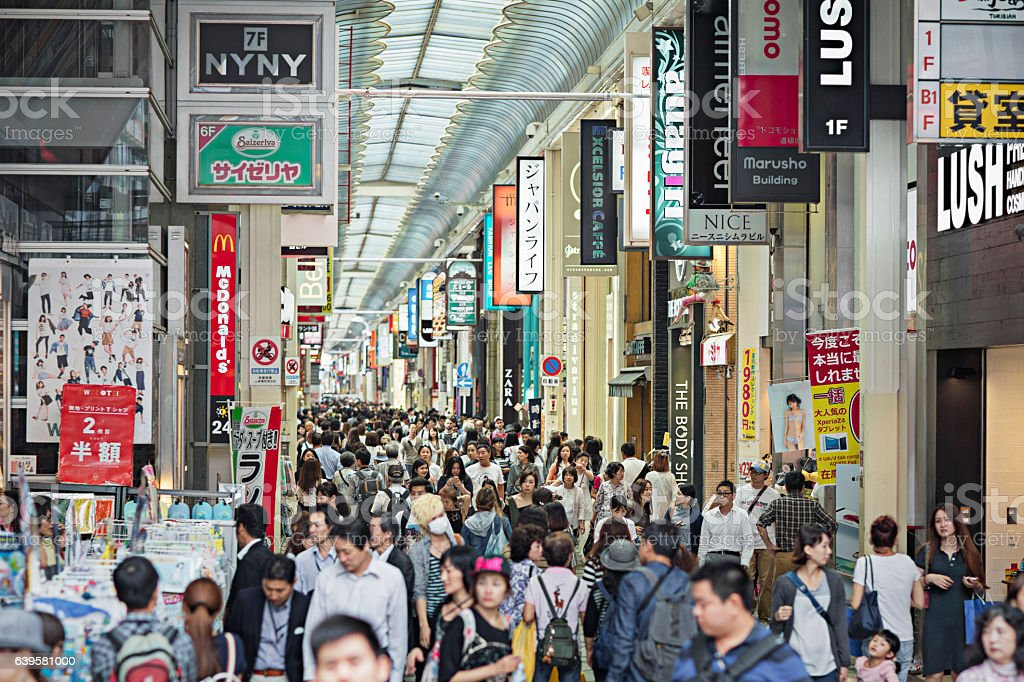 People shopping in Shinsaibashi – Foto