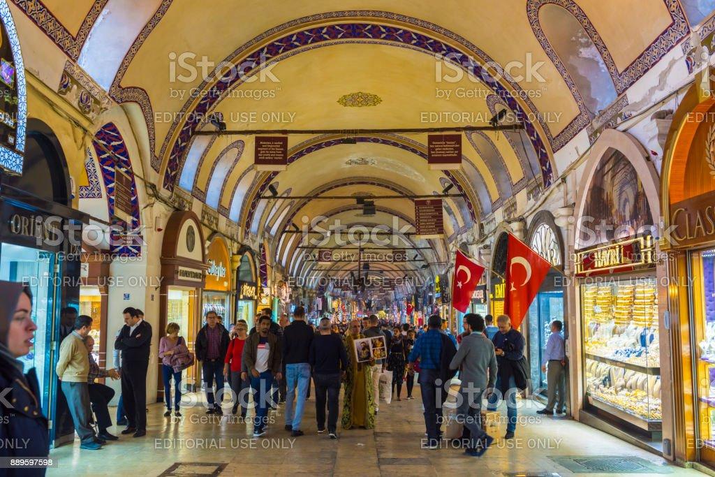 Istanbul Türkei 8 Dezember 2017 Menschen Beim Einkaufen In