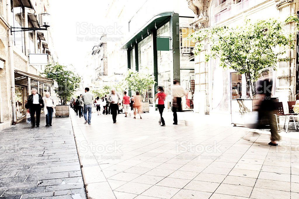 People shopping royalty-free stock photo