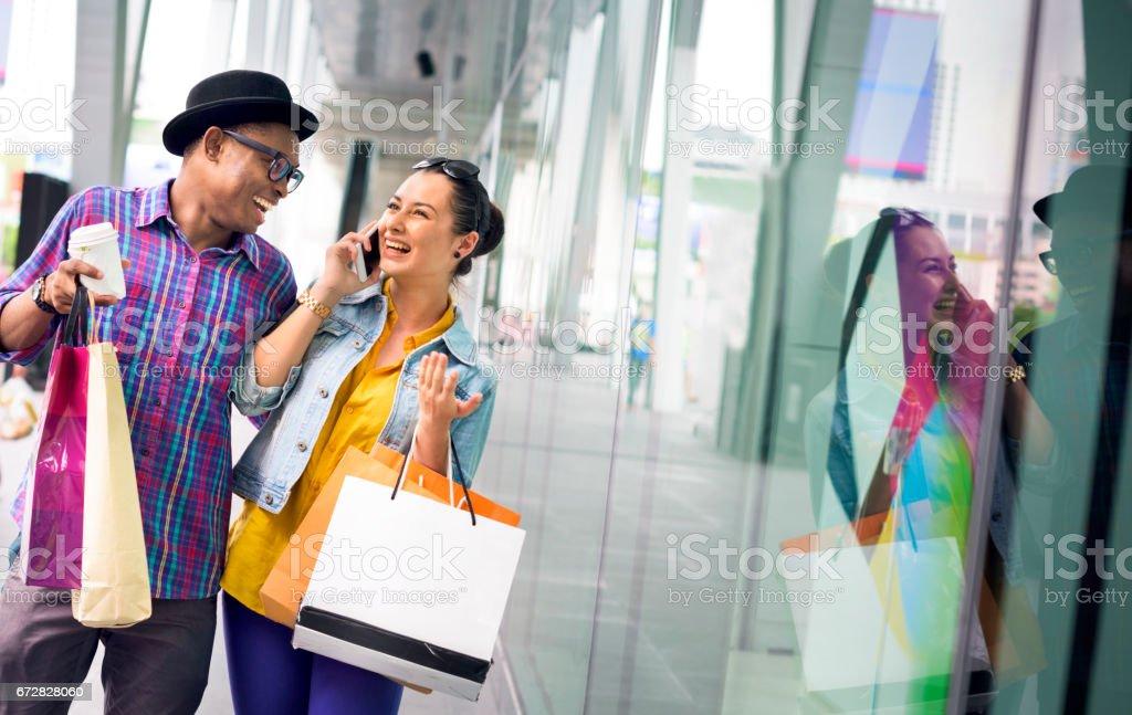People Shopping Spending Customer Consumerism Concept - foto de acervo