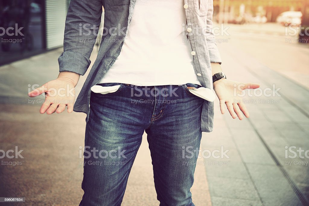 people showing has no money stock photo