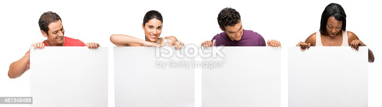 istock People showing placard 481349488