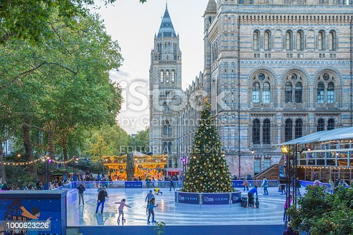 istock People skating on an ice rink in London during Christmas 1000623226