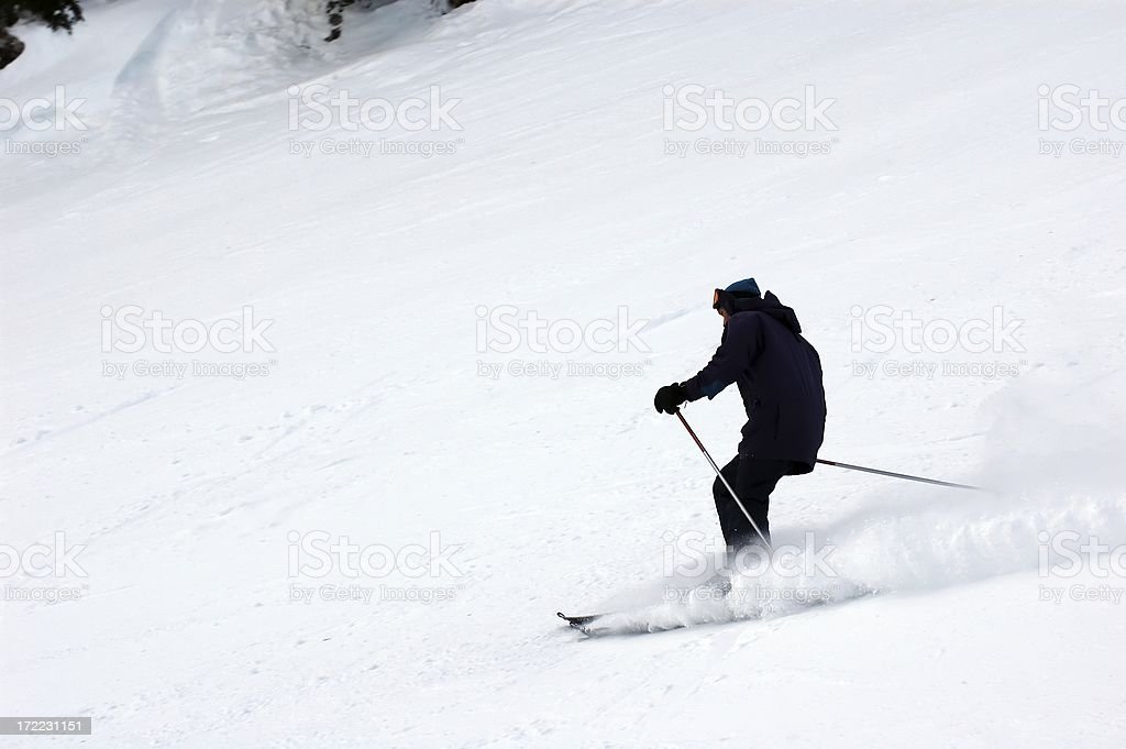People : Skier Downhill royalty-free stock photo