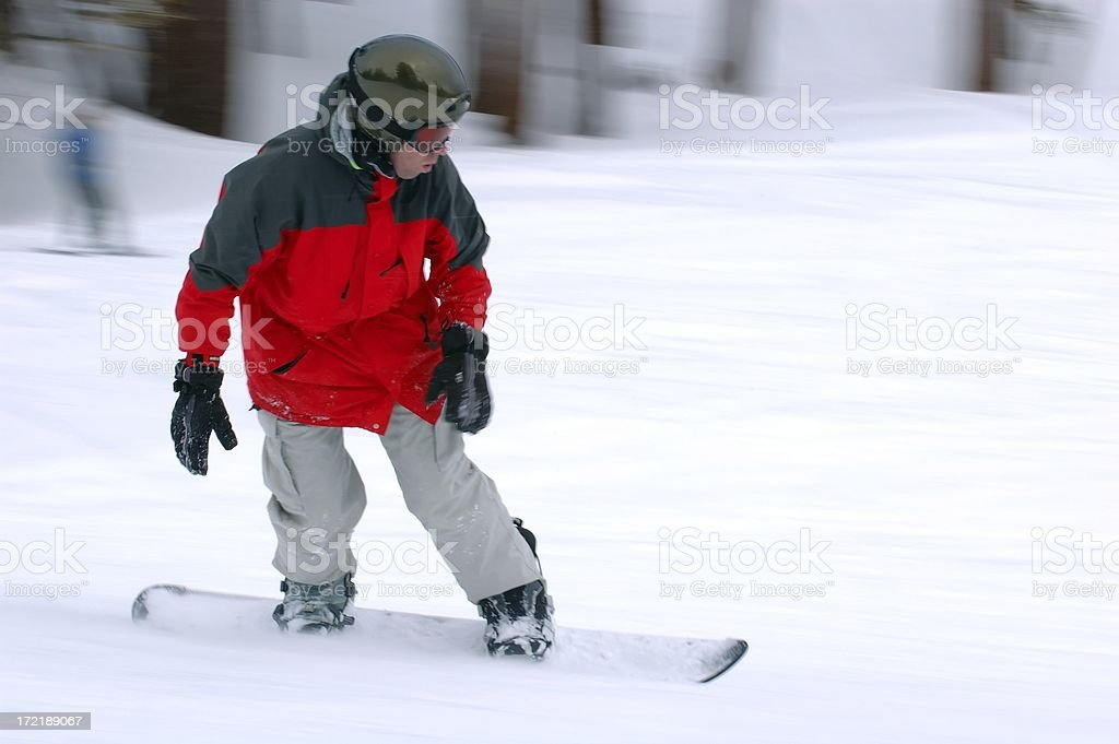 People : Snowboarder Carving royalty-free stock photo