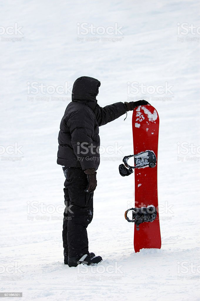 People : Snowboarder Red stock photo