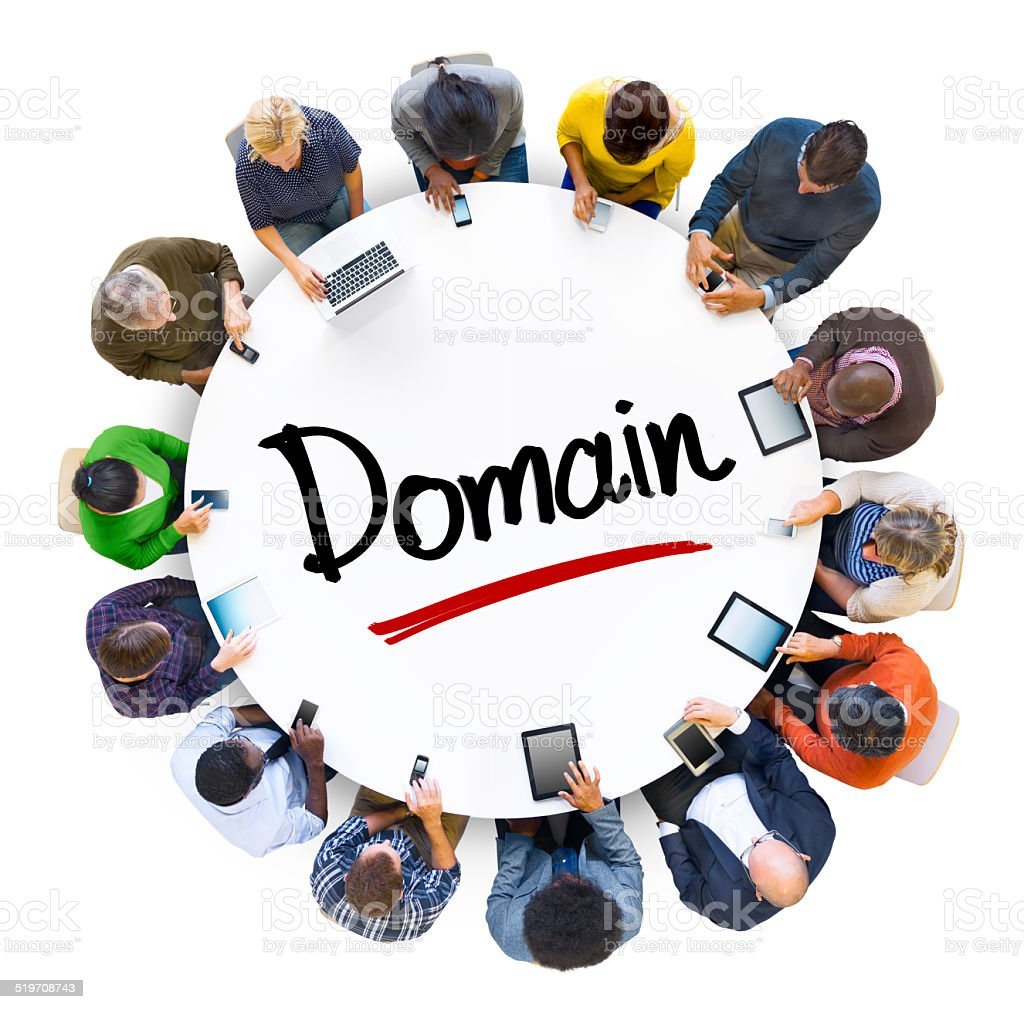 People Social Networking and Domain Concept stock photo