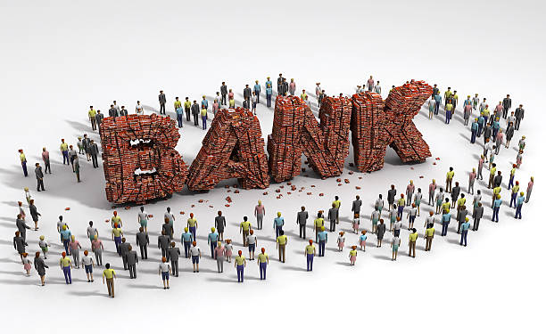 people standing around of bank ruin - depositor stock pictures, royalty-free photos & images