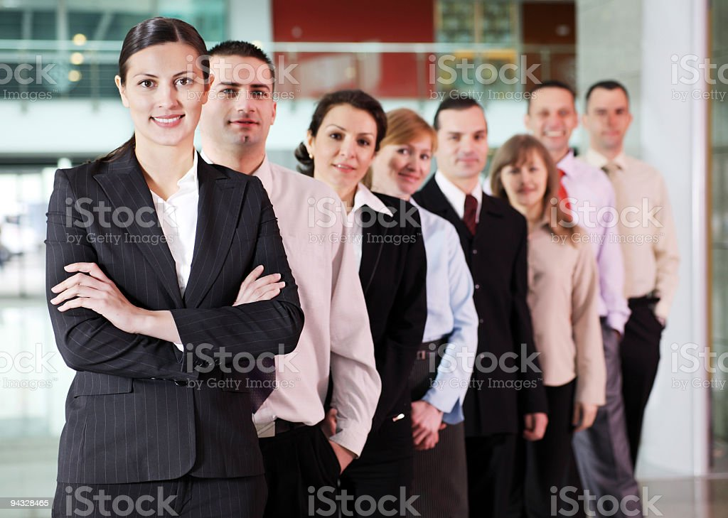 People standing in row on a business meeting. royalty-free stock photo