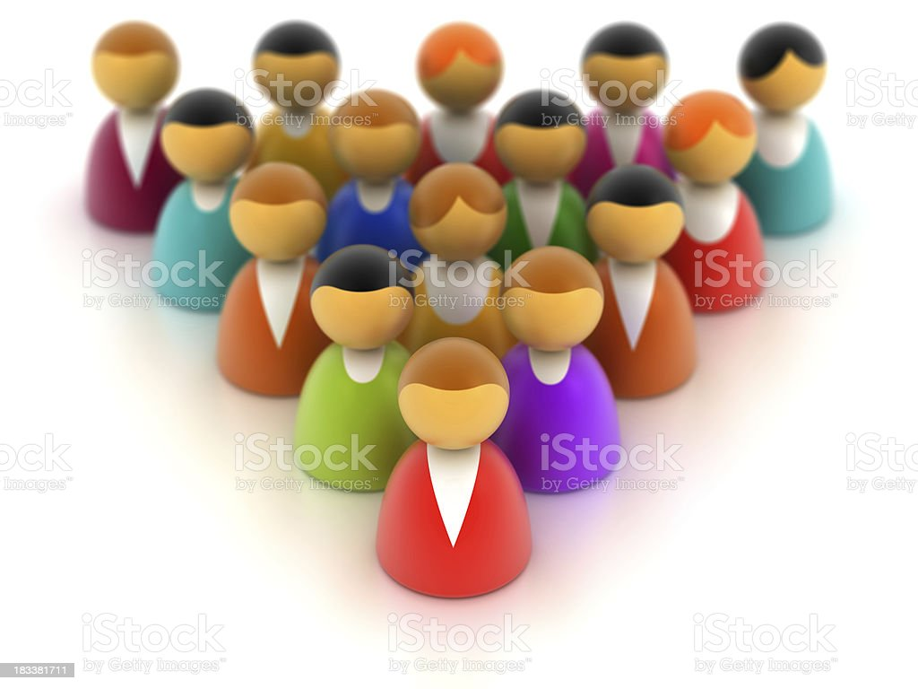 People symbols in triangle. royalty-free stock photo