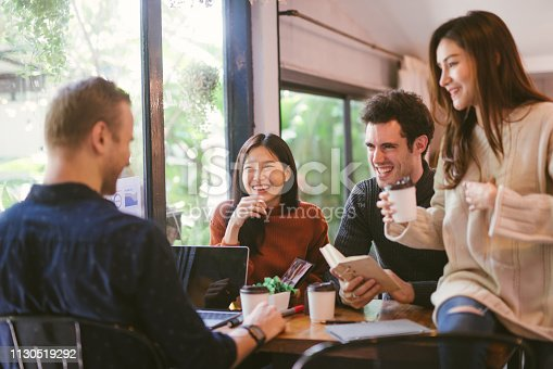 istock people talking happy in cafe 1130519292