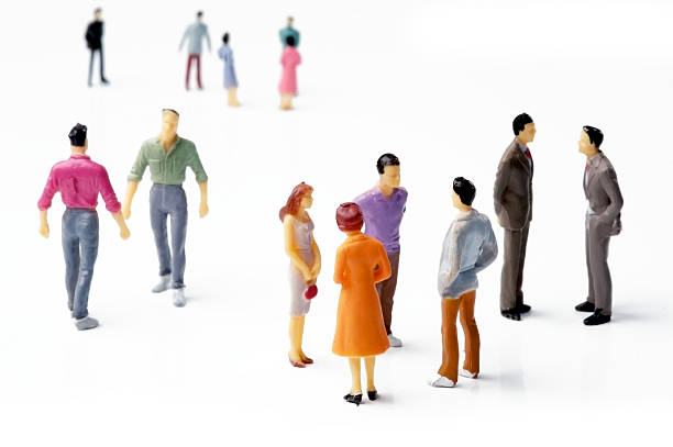 people talking - figurine stock photos and pictures