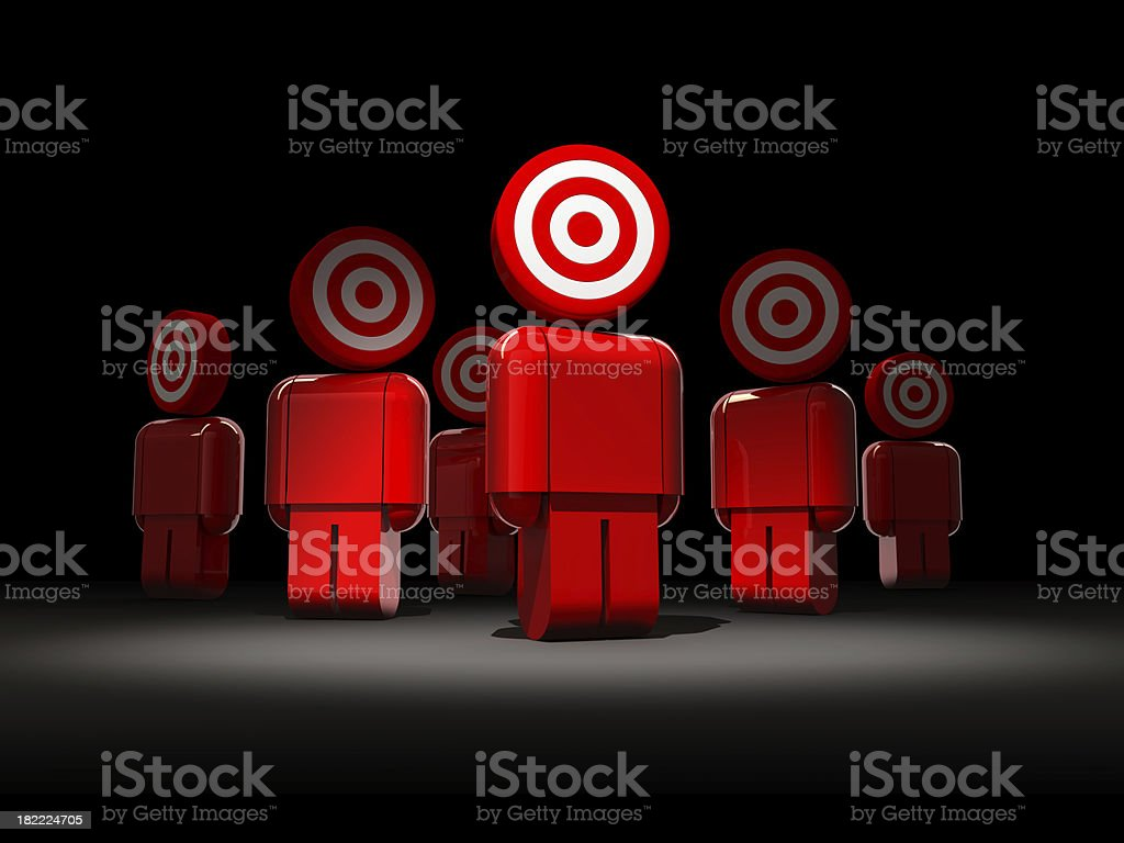 people target stock photo