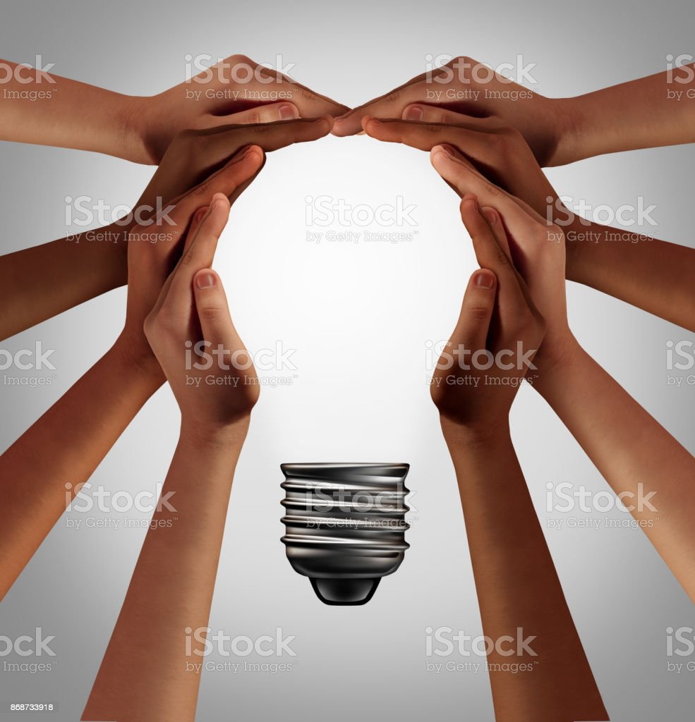 People Thinking Together stock photo