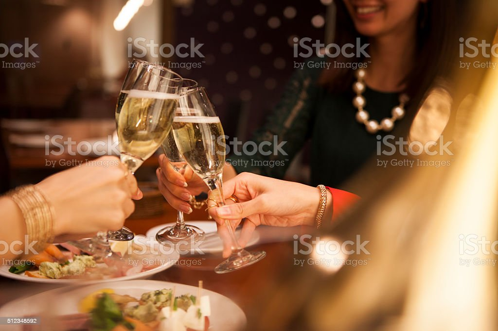 People to open a gorgeous party stock photo