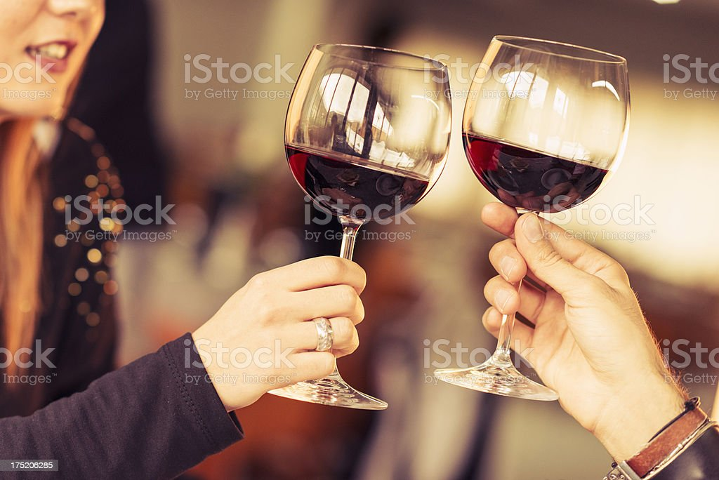 people toasting at the restaurant royalty-free stock photo