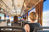 istock People travel by bus in Bangkok. Buses are one of the most important public transport system in Bangkok. 665524336