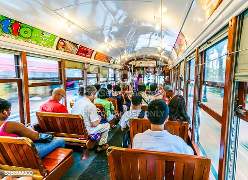 People Travel With Old Street Car St Charles Line Stock Photo & More Pictures of Adult