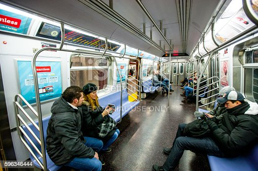 People Traveling In New York Subway Usa Stock Photo & More Pictures of City