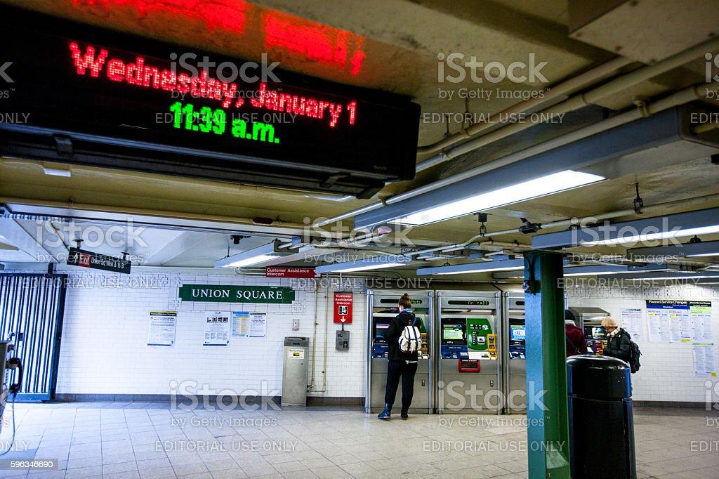 People traveling in New York subway, USA Lizenzfreies stock-foto