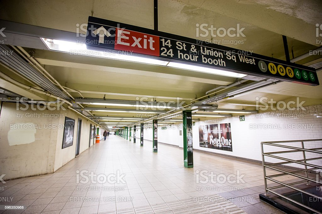 People traveling in New York subway, USA Lizenzfreies stock-foto