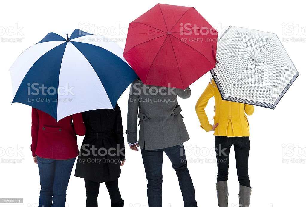 People Under Umbrellas royalty-free stock photo