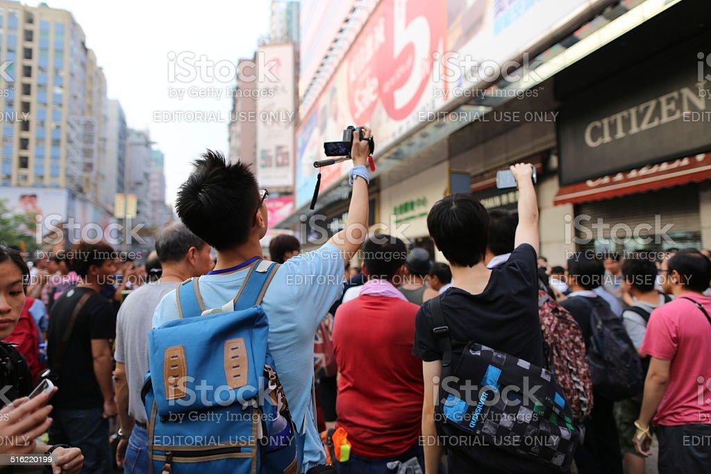 Menschen verwenden für die Aufnahme von Digital Vision der HK revolution – Foto