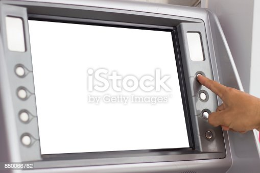 istock people using ATM 880066762