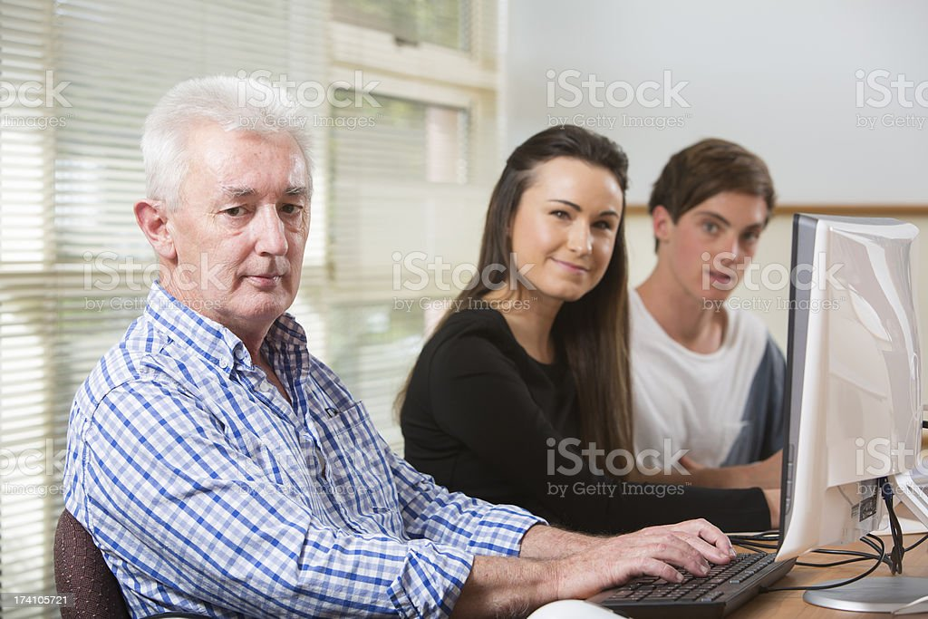 People Using Computers royalty-free stock photo
