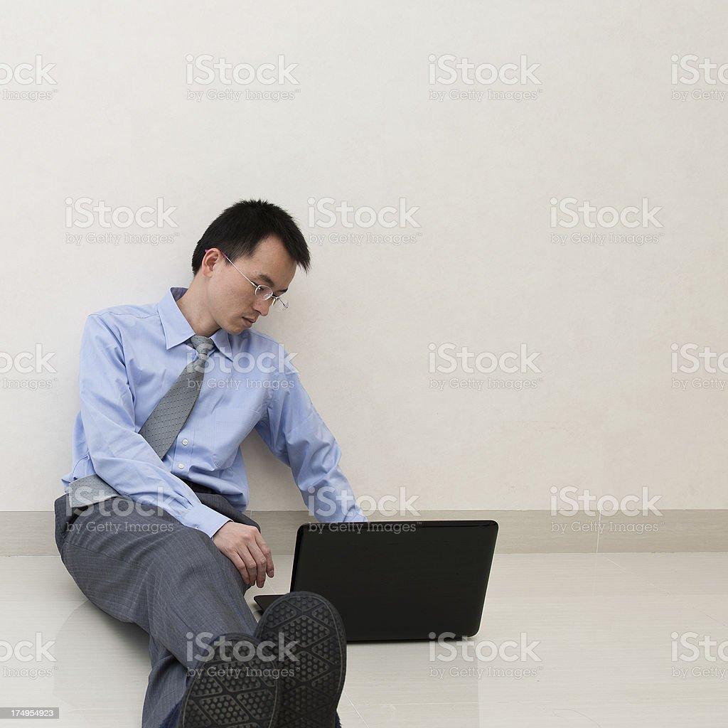 people using laptop royalty-free stock photo