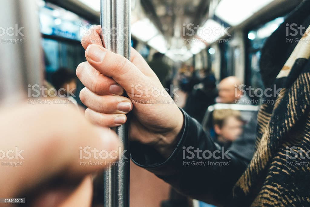 People Using Public Transport stock photo