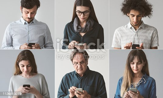 People using the mobile phone